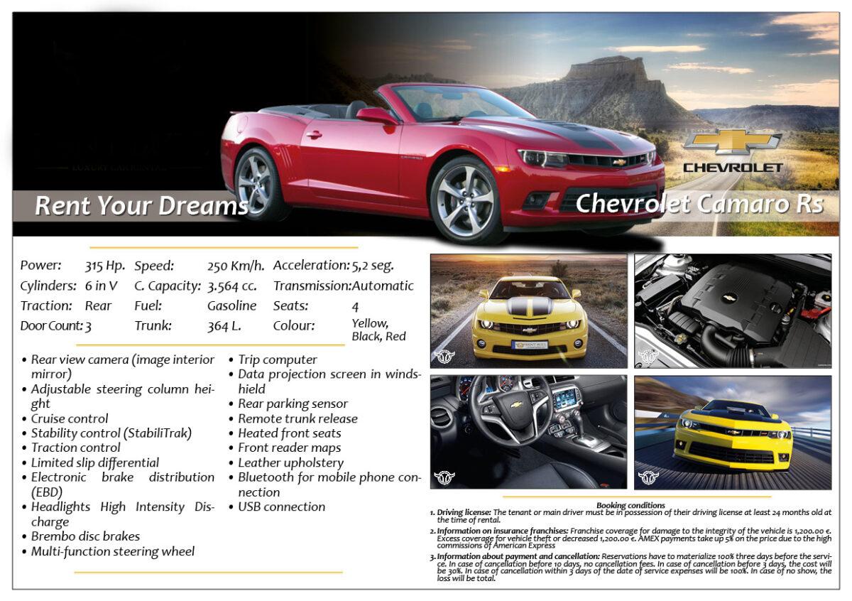 Rent Marbella Chevrolet Camaro