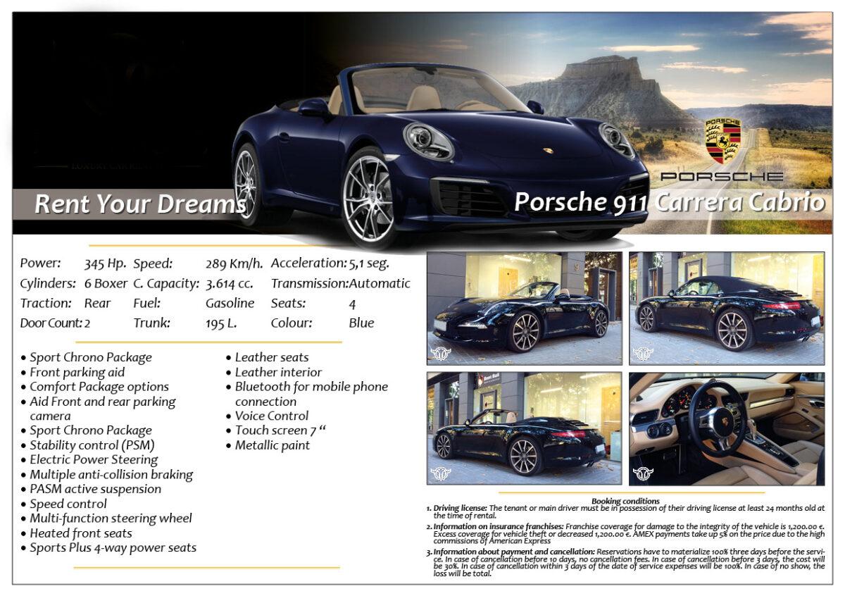 Rent Marbella Porsche 911 Carrera Cabrio