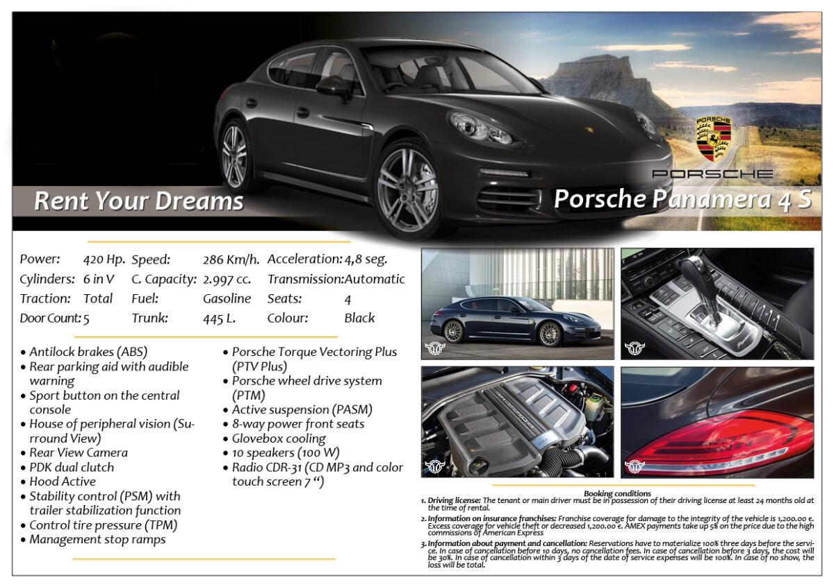 Rent Marbella Porsche Panamera 4S